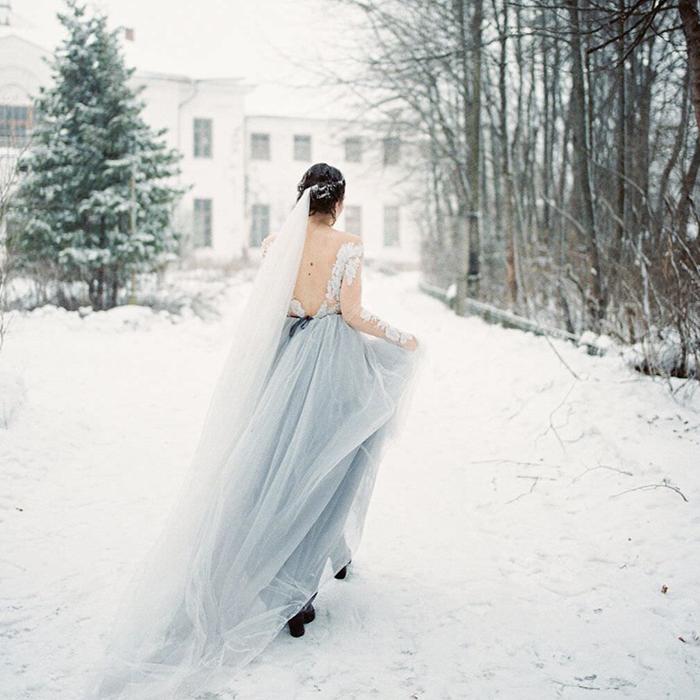 Агентство POLOTNO - свадьба зимой в загородном клубе «Тучково»