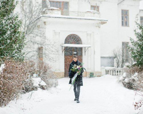Жених. Свадьба зимой 2019. Свадебное агентство POLOTNO в москве