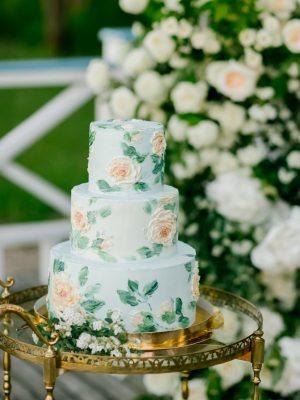 свадебный торт с листочками москва