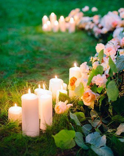 Свечки на свадьбу под дождем
