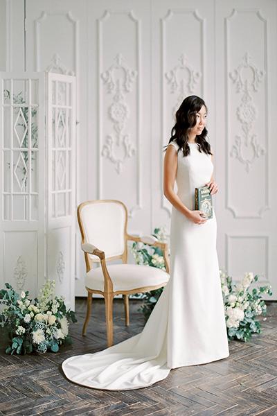 Фото невесты на камерной свадьбе