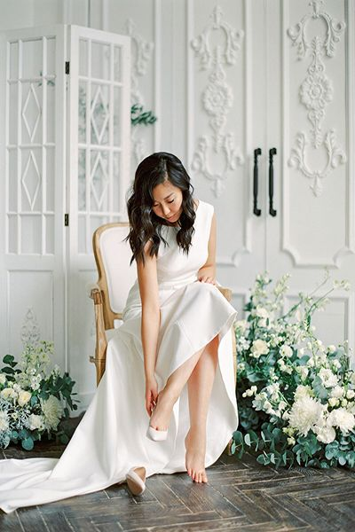 Невеста на камерной свадьбе